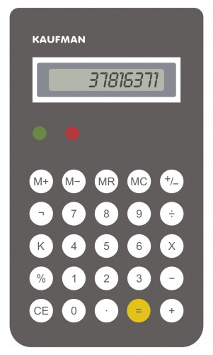 Calculadora BRAUN by KAUFMAN '37816371-ILEGIBLE'